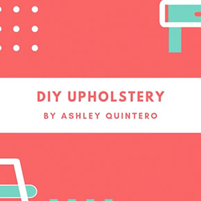 DIY furniture upholstery using Miles