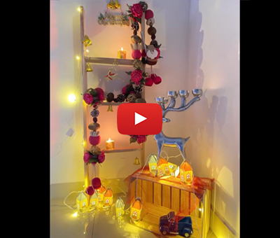 DIY Christmas Ladder by using Miles Staple Gun